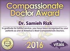 Compassionate Doctor Award - Dr. Samieh Rizk 2016