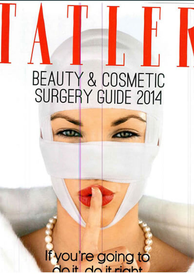 Dr. Rizk featured in Tatler Beauty & Cosmetic Surgery Guide 2014