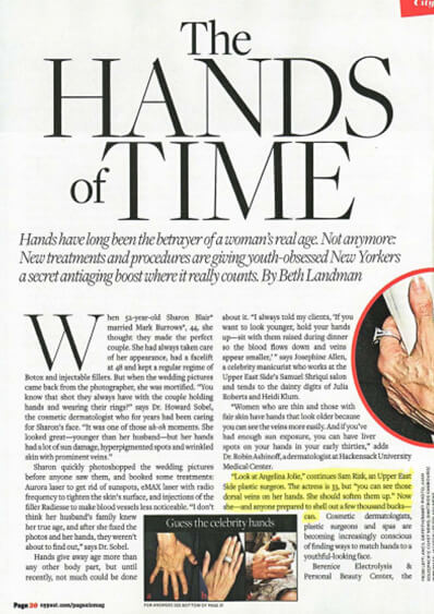Page 6 New York Post The Hands of Time